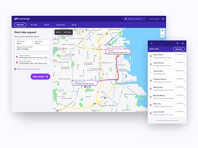 An Upgraded Lyft Concierge lyft concierge lyft business product design transportation health care responsive map lyft