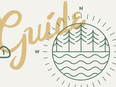 A+R Invitation Elements wedding invitation lettering compass california redwoods seal sun
