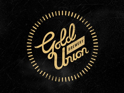 Gold Union Brewery logo beer brewery lettering logotype