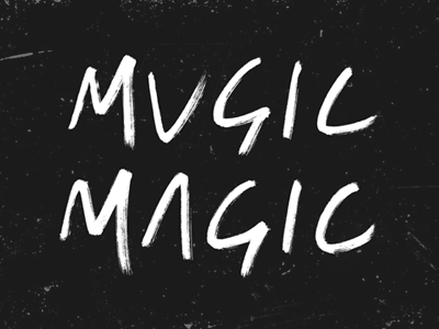 Music Magic lettering ink sketch rough