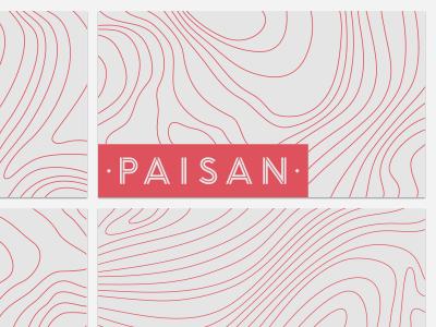 Paisan Osteria & Bar branding logo topography italian wood business cards