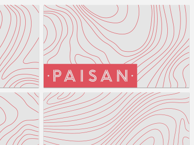 Paisan Osteria & Bar branding logo topography italian wood business cards