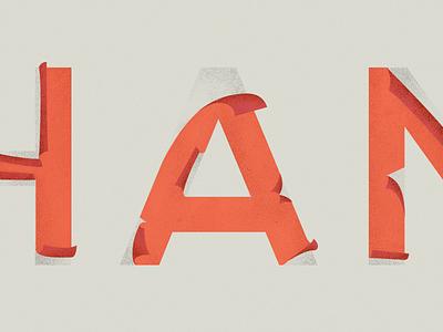 Change is coming typography weathered peel texture