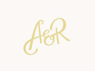 Addie & Ro lettering script wedding initials ampersand