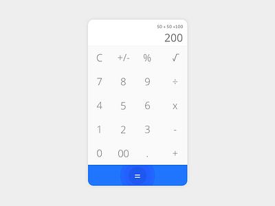 Calculator ui app material