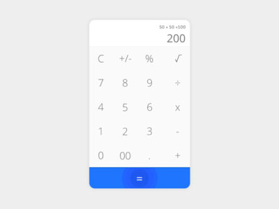Calculator ui app material