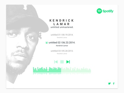 Kendrick X Spotify ui player music spotify