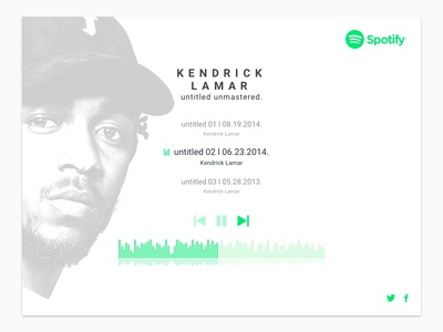 Kendrick X Spotify ui player music spotify