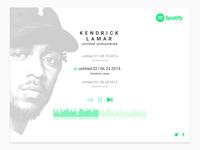 Kendrick X Spotify