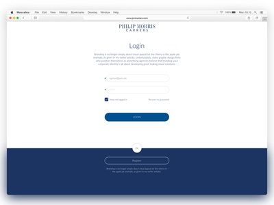 Login App login phillipmorris