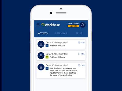 Workbase WebApp tabs activity scio ui