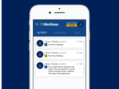 Workbase WebApp tabs activity scio ui