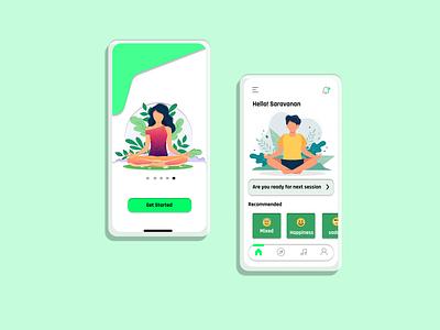 meditation app concept meditation app app design design app ux ui