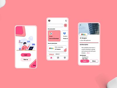 Job search app concept app design uidesign ui jobs job search app