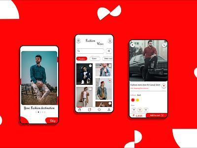 Men fashion store appme uidesign app ui app design men clothing