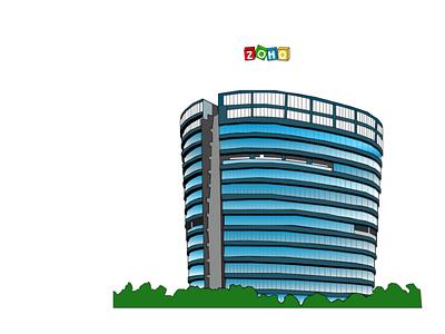 Zoho corporation illustration figma illustration
