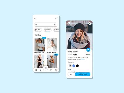 Clothing app app design ui clothing app