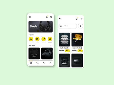 Headphones store app ui ui design gadget app headphones app