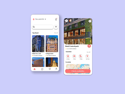 Hotel booking app ui uidesigns uiux hotel booking app