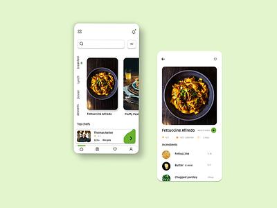 Recipe app recipe app app design ux ui