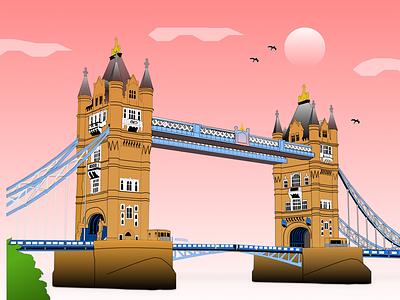 London tower bridge tower bridge illustration illustration figma illustration