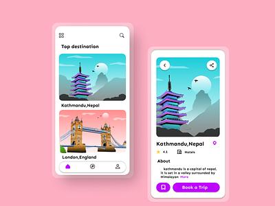 Travel service app uiux uidesigns travel app