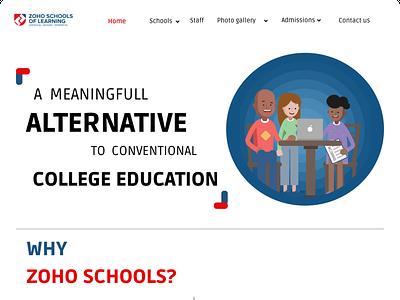 zoho schools website design zoho webdesign
