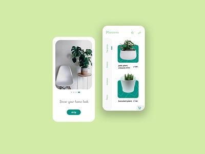 plant store app app design design ui plant app