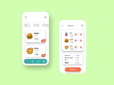 food deliver app app design fooddelivery app