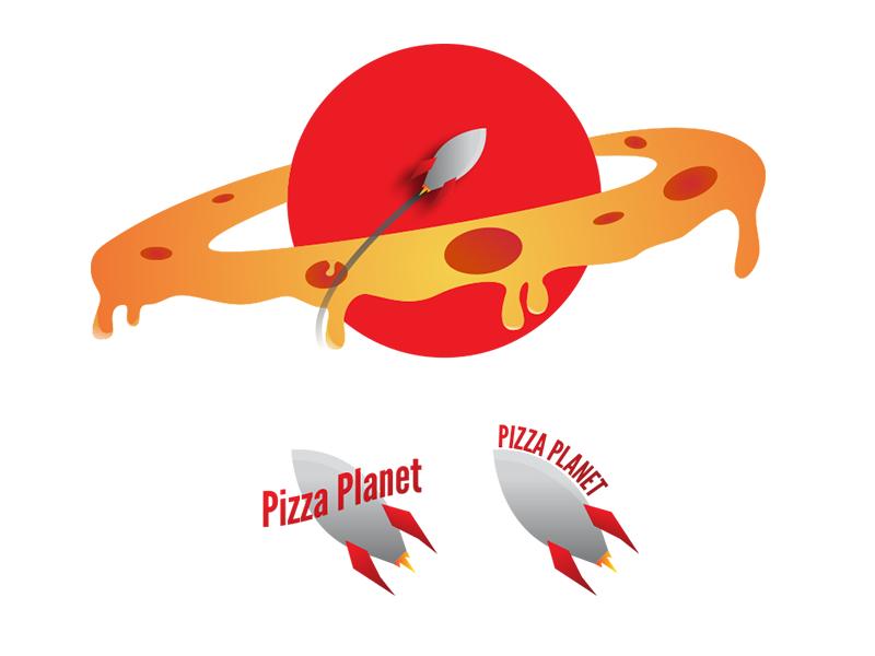 Pizza Planet Rebrand pizza planet logo pizza rebrand