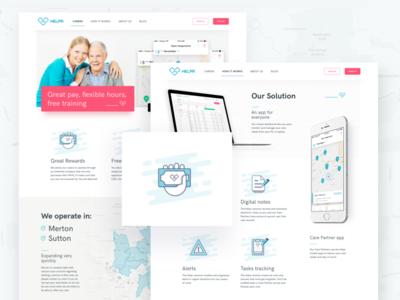 Helpr – Behance Case Study social care ui ux case study