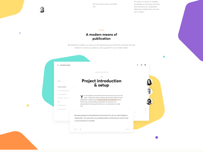 Live E-book – Design Process for Pros Landing Page Interactions interaction book e-book website ui page tabs resource desktop typography animation motion