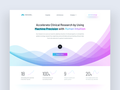 Mendel AI – Streamline Global Oncology Research medic app oncology research health medicine website ux ui