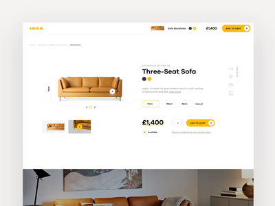 IKEA Online Experience Concept Throwback 2 ui ux interaction app concept ecommerce retail shop furniture