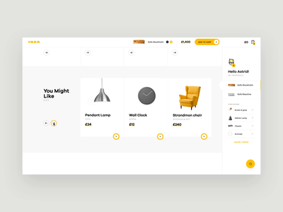 IKEA Online Experience Concept Throwback 3 furniture shop retail ecommerce concept app interaction ux ui