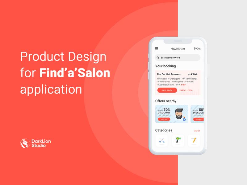 Salon app - Find'a'Salon nearby
