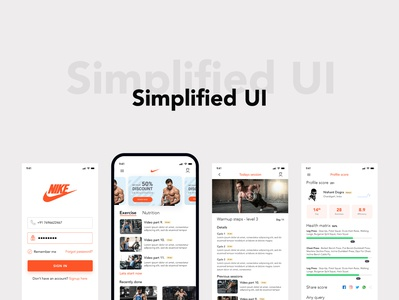 simplified ui shot application design user experience design thinking dograsweblog dark lion studio health app gym app fitness app workout app application ux app design