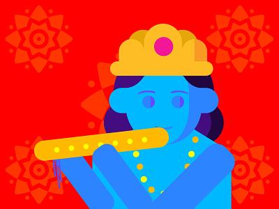 Lord Shree Krishna - Adobe Illustration work adobe illustration lord krishna