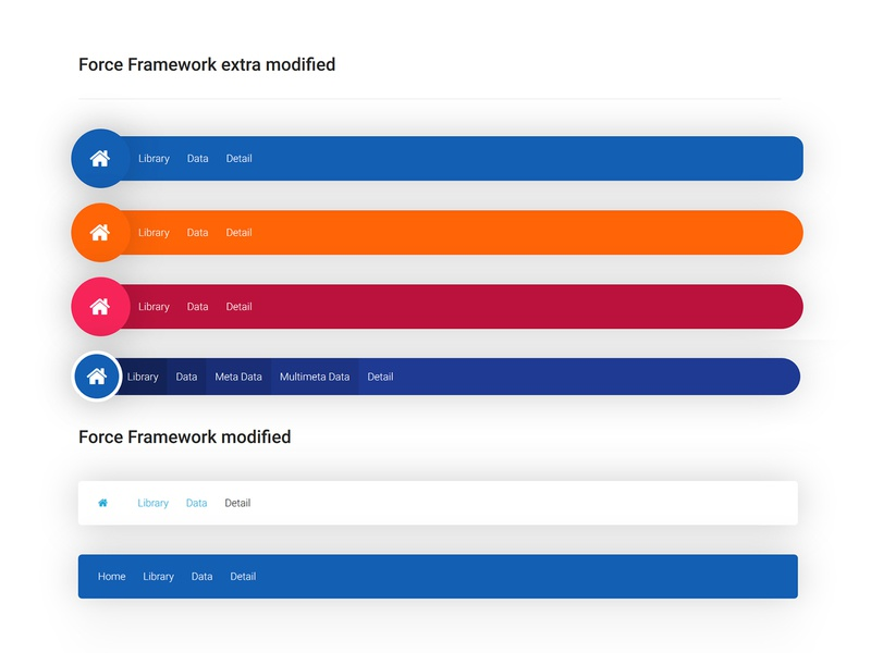 Breadcrumb style modified CSS Force Framework by Nishant