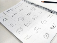 Wire, Circuits, Dome logo sketch work by Nishant Dogra
