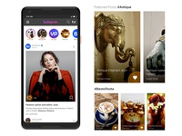 Instagram Redesign Challenge submission by Nishant Dogra