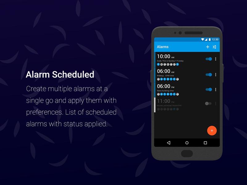 Simple Alarm Clock application by Nishant Dogra on Dribbble