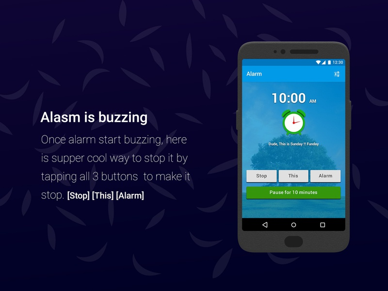 Simple Alarm Clock application by Nishant Dogra on Dribbble