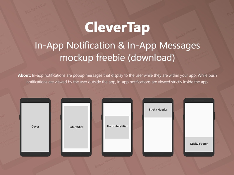 CleverTap In-App Notification & Messages mockup freebie design thinking inspiration dograsweblog ui design notification push notification psd mockup freebie clevertap