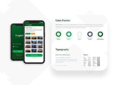 Color Palette - Wave Logistic - Application UI Freebie
