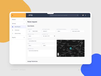 Dashboard - Raise request UI