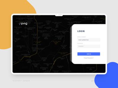 Dashboard - Login interface UI