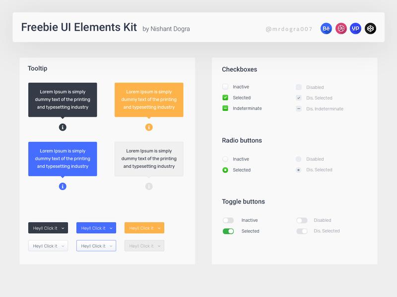 Freebie UI Elements Kit dograsweblog ui kit dashboard ui kit template free psd ui elements dashboard ui design freebie psd freebie dashboard ui dashboard template dashboard design dashboard