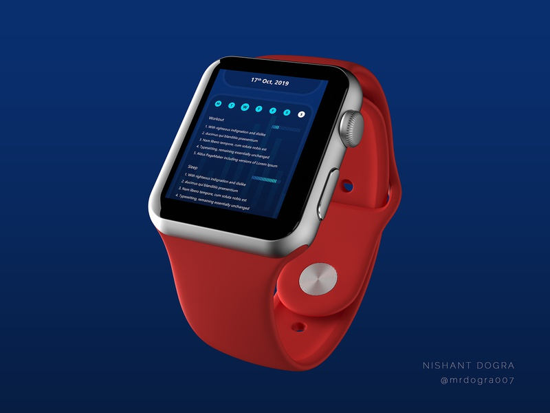 Activities Tracker Application UI smartwatch workout healthcare fitness activities tracker application design