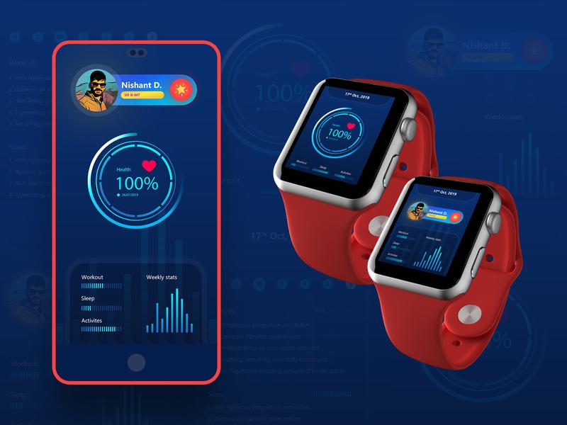 Activities Tracker Application UI design thinking product design application design user interface smartwatch application ui monitoring fitness app workout healthcare fitness activities tracker health app